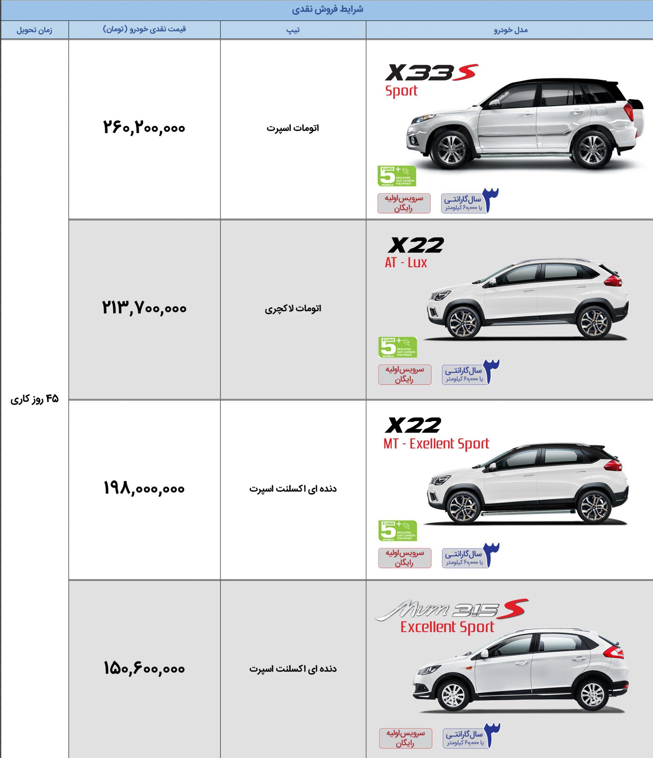 شرایط فروش x22 مدیران خودرو
